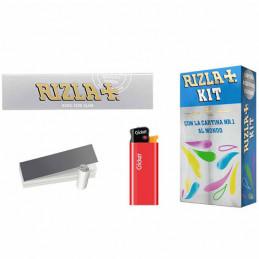 ASTUCCI KIT RIZLA SLIM SILVER+ACCENDINO+Tips D00030003 100x8